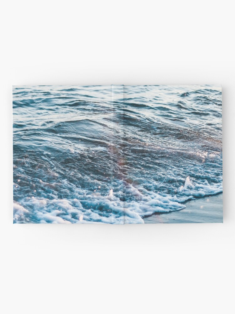 Alternate view of Waves Crash on the Beach Hardcover Journal