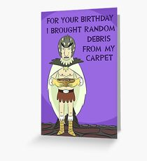 Bird Person Birthday Card Greeting Card