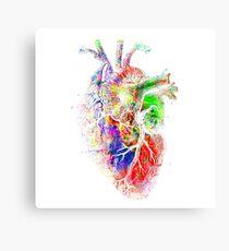 Colourful Heart Canvas Print