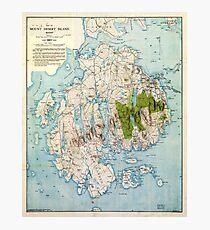 Map of Mount Desert Island, Maine (1917) Photographic Print