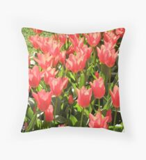 A Burst of Tulips Throw Pillow