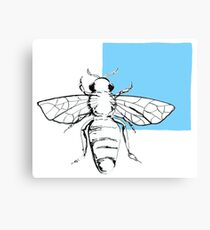 Bee-blue Canvas Print