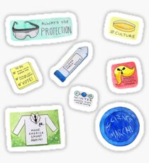 Watercolor Science March Stickers! Sticker