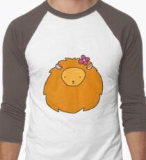 Flower Lion Face Men's Baseball ¾ T-Shirt