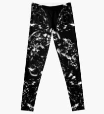 Black and white orchids Leggings