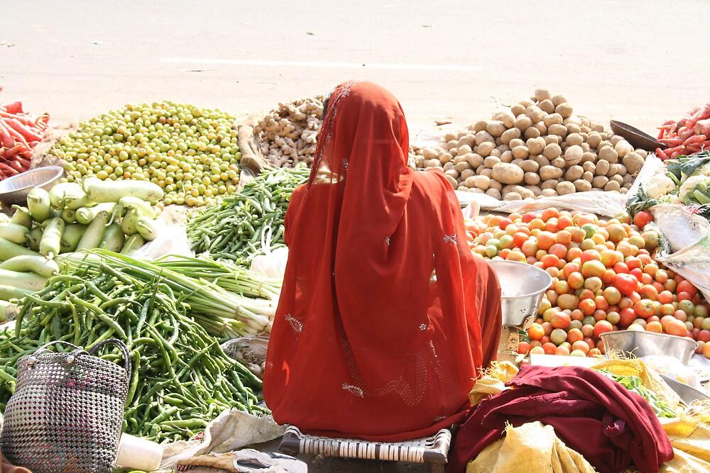 Fruit seller, Jaipur, India by Thomas Entwistle