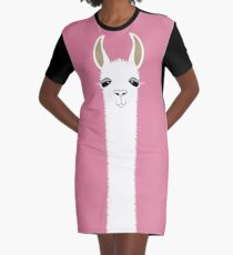 LLAMA PORTRAIT #5 Graphic T-Shirt Dress