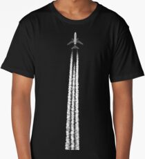 PLANE WITH CONTRAILS Long T-Shirt