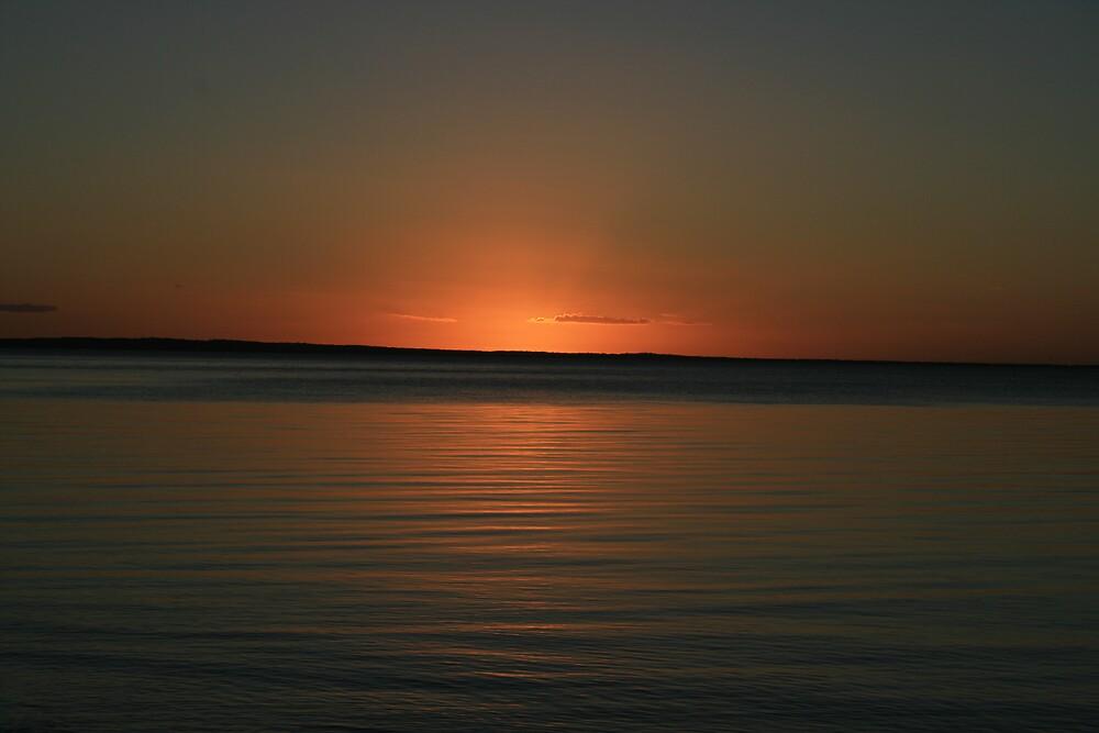 Sunset over Fraser Island, Australia 1 by Thomas Entwistle