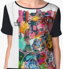 Cool Graffiti Collage 3 Chiffon Top