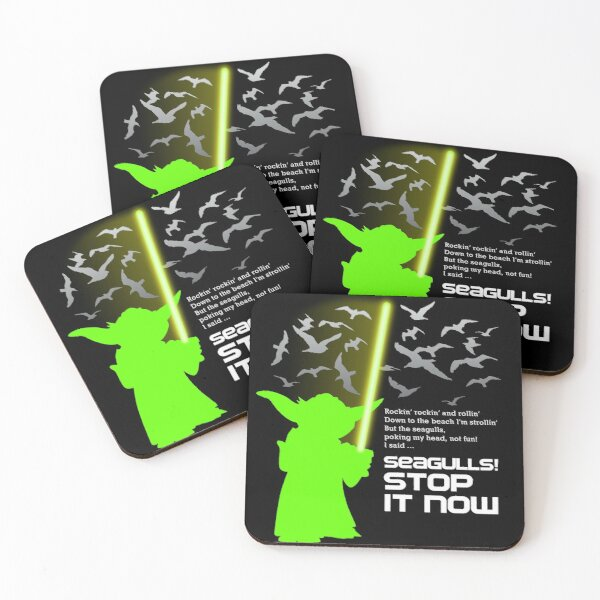 Seagulls Stop It Now! Coasters (Set of 4)