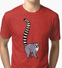 Lemur Catta - Ring Tailed Lemur Tri-blend T-Shirt