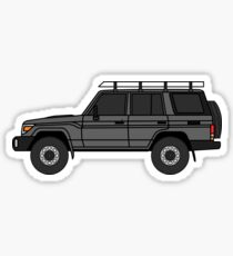 Toyota Land Cruiser 70 Series Wagon (HZJ76) Side grey Sticker