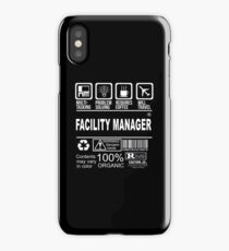 Facility manager iPhone Case/Skin