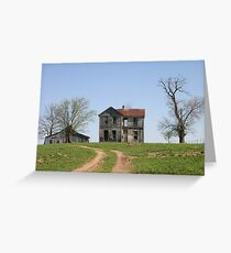 Missouri Country Ruins Greeting Card