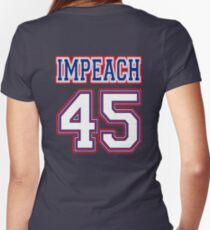 Impeach 45 Women's Fitted V-Neck T-Shirt