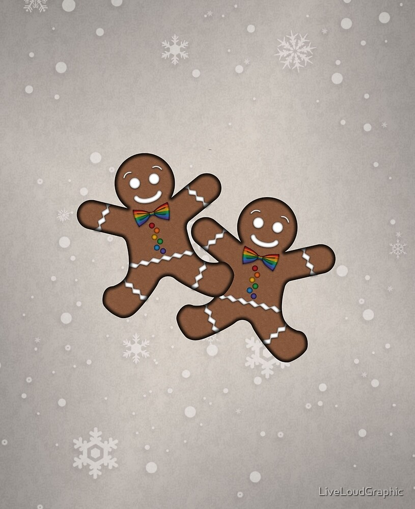 Gay Pride Gingerbread Couple by LiveLoudGraphic