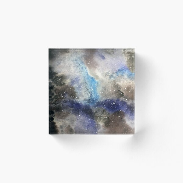 Space Exploration Acrylic Block