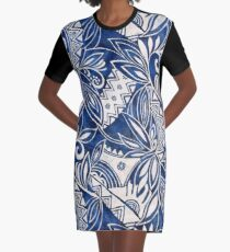 Hawaiian tribal pattern II Graphic T-Shirt Dress