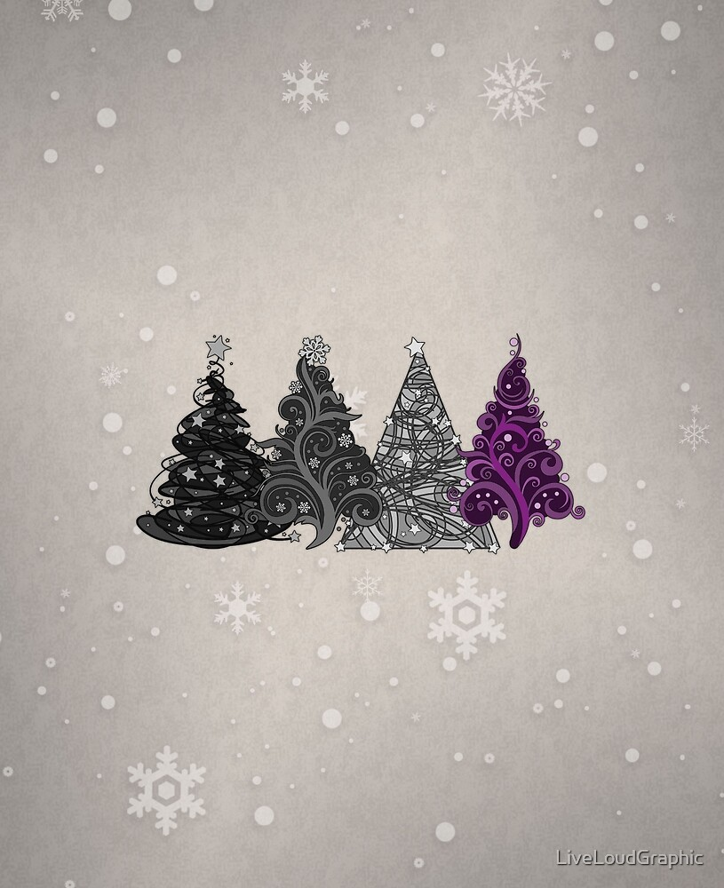 Asexual Christmas Trees by LiveLoudGraphic