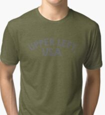 Upper Left, USA Tri-blend T-Shirt