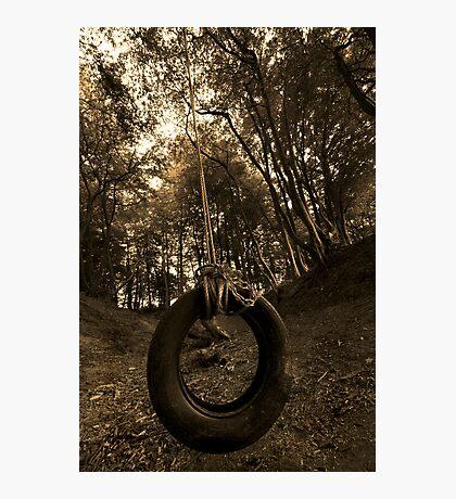 Tyre swing Photographic Print