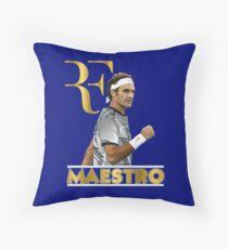 Roger Federer Maestro 2 Throw Pillow
