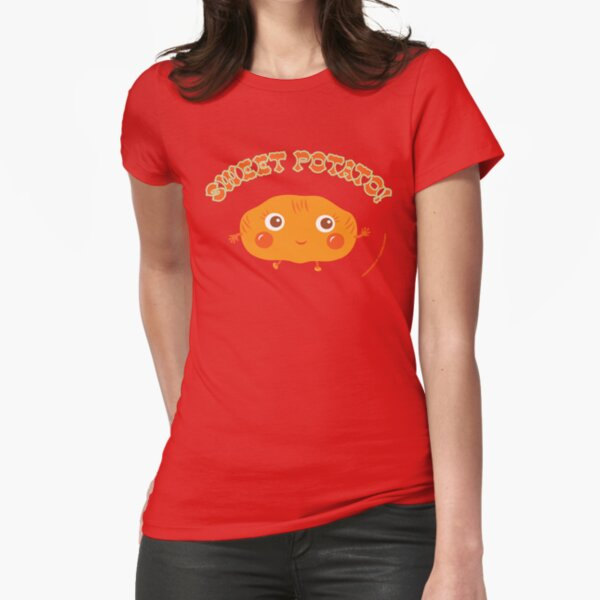Sweet Potato Fitted T-Shirt