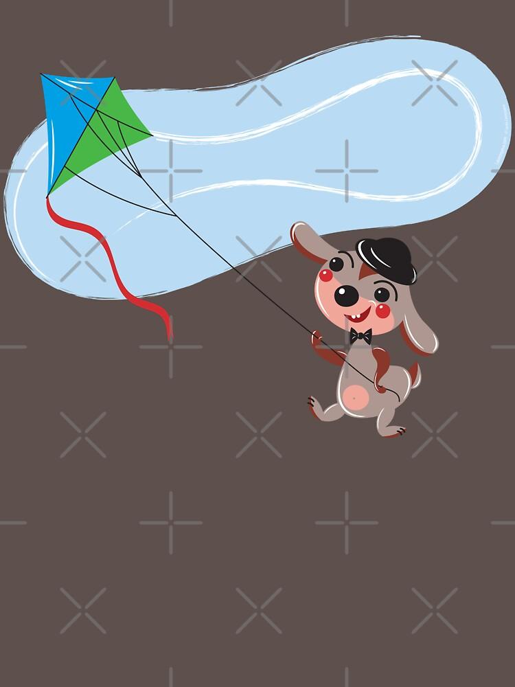 Bunny with Kite2 by Lyuda