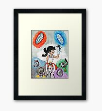 Chell and Friends Framed Print