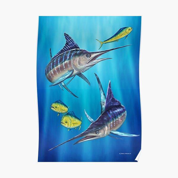 Double Trouble - Striped Marlin & Mahi Mahi Poster