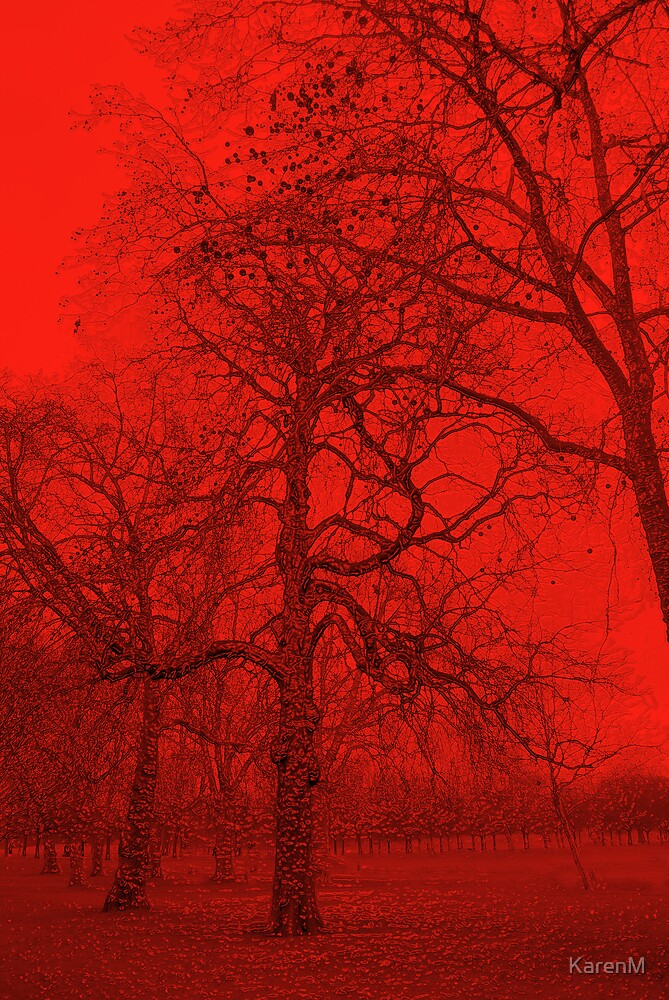 Red Trees by KarenM