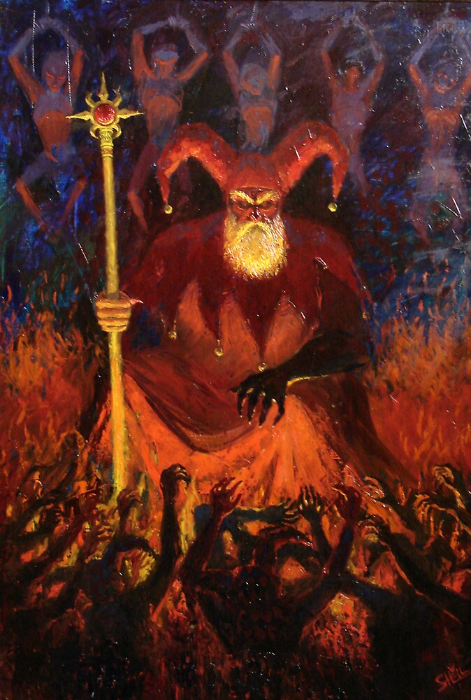 The god of the clowns by Daniil