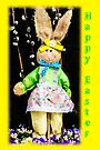 Happy Easter Bunny Girl Decoration Greeting Card by MotherNature