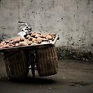 A bike load of potatoes by Matthew Bonnington