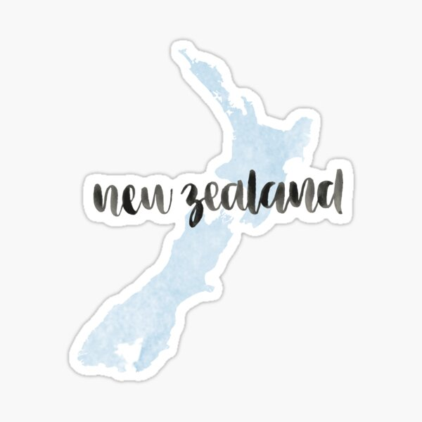 New Zealand Country Watercolour Sticker