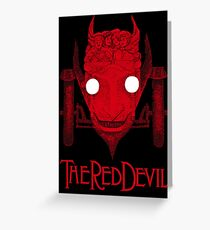 The Red Devil Car (Lettered) Greeting Card