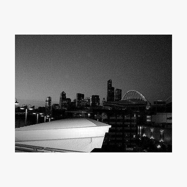 Seattle night Photographic Print