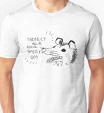 PROTECT OUR SMELLY BOYS Slim Fit T-Shirt