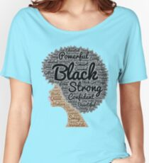 Black Woman Natural Hair Word Art Women's Relaxed Fit T-Shirt