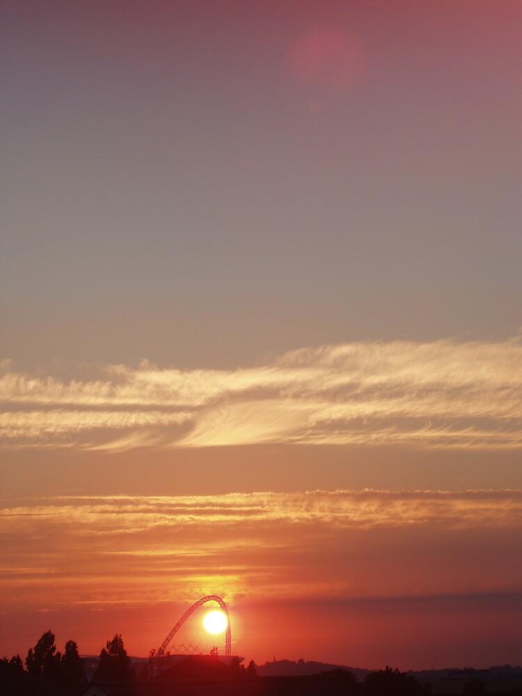 Sunset at Wembley Stadium by Lindymrb