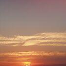 Sunset over Wembley Stadium by Lindymrb