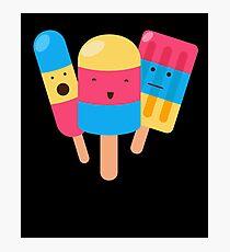 Happy Icecream Popcicle Sweets Candy Photographic Print