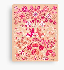 Bunny Lovers – Pink Palette Canvas Print