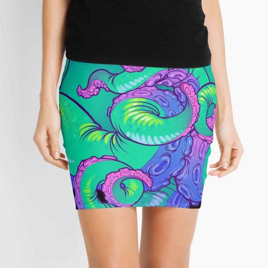 Cthulhu Tentacles Mini Skirt