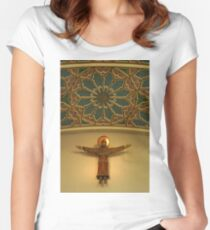 Sculpture & Ceiling, Chelmsford Cathedral Women's Fitted Scoop T-Shirt