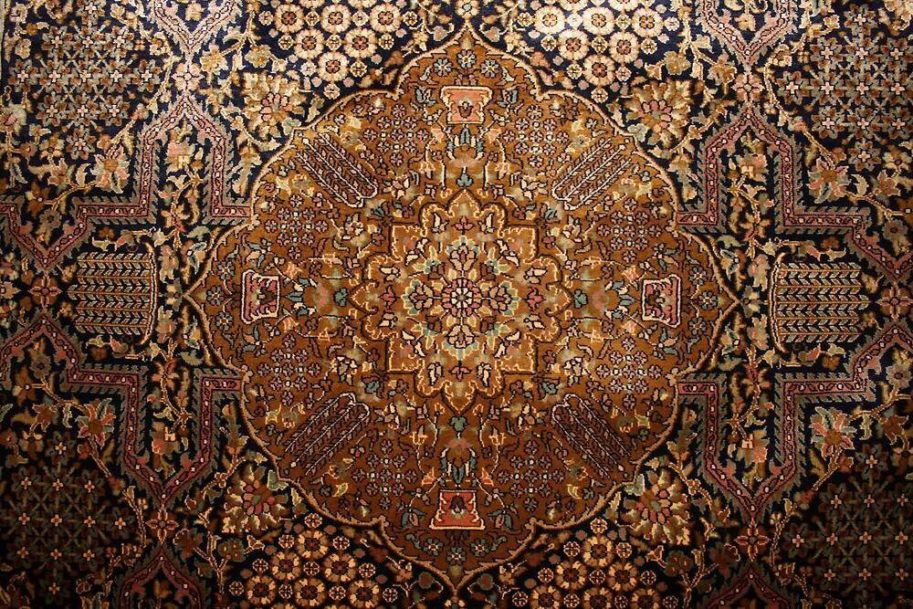 Silk Kashmiri carpet, Indian Kashmir by Thomas Entwistle