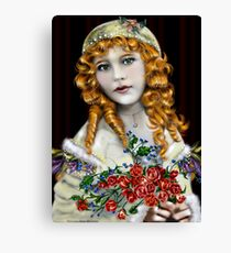 Little Red Head Girl Canvas Print