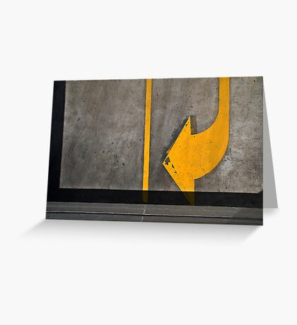 turn yellow Greeting Card