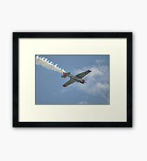 Texan VH-WHF inverted,Albion Park Airshow,Australia 2016  Framed Print